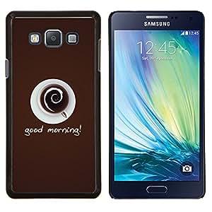 YiPhone /// Prima de resorte delgada de la cubierta del caso de Shell Armor - Taza de café Taza Crema cafeína bebida Arte - Samsung Galaxy A7 A7000