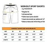 MANSDOUR Men's Workout Shorts Casual Cotton Elastic