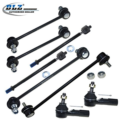 DLZ 8 Pcs Suspension Kit-2 Inner 2 Outer Tie Rod End 2 Front 2 Rear Sway Bar Compatible with 1997-2001 Toyota Camry Lexus ES300 1997-2004 Toyota Avalon 1999-2003 Toyota Solara EV301 ES3306 K90312