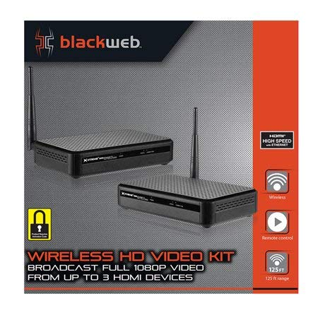 HDMI Digital Wireless Transmitter & Receiver Kit for HD 1080p Video Streaming, Cable box, Satellite, Bluray, DVD, Laptop, PC, PS3, PS4, Xbox 360, Xbox ()