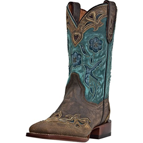 Dan Post Ladies Bluebird Sq Toe Western Boots 6