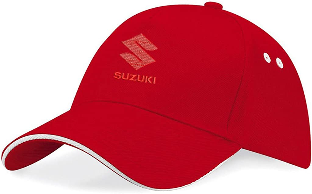 k044 Inconnu Suzuki Unisexe Adulte Caps Baseball R/églable Broderie Coton