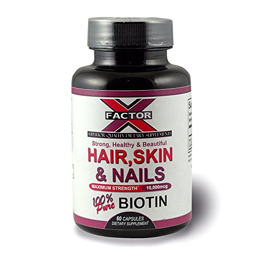 Biotin Dietary Supplement Capsule - The Best Vitamin for Hair Growth, Stronger Nails, Softer Skin, Nerve Health & Metabolic Booster. Made With Pure Biotin & Calcium 60 Capsules Max Strength 10,000mcg