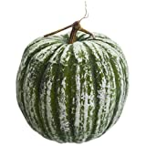 12.5''Hx11''W Artificial Beaded Pumpkin -Green (pack of 2)