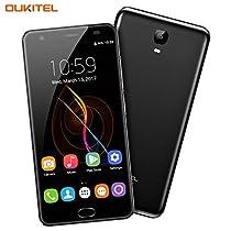OUKITEL K6000 Plus - 4G Smartphone Libero Batteria 6080mAh MTK6750T Octa Core, 5,5 pollici 2.5D Display, Androide 7.0, 4GB RAM e 64GB ROM 8MP + 16MP Telecamere Impronta Digitali Dual SIM Flash Charger OTG - Grigio