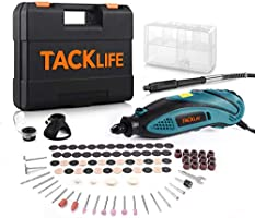 TACKLIFE Rotary Tool Kit with MultiPro Keyless Chuck and Flex Shaft, Versatile Accessories, 4 Attachments & Carrying...