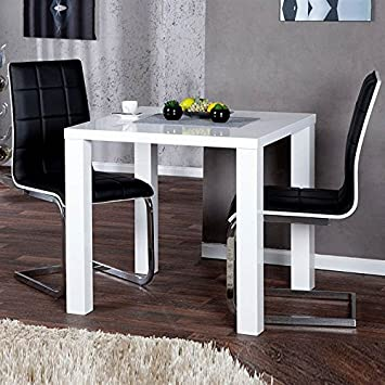 DESIGN DELIGHTS SQUARE KITCHEN TABLE MALMÖ 80x80cm (~31x31) MDF Breakfast  Table Side Table