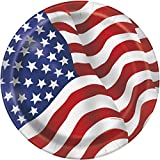 Unique Party 43745 - 23cm US American Flag Party Plates, Pack of 8