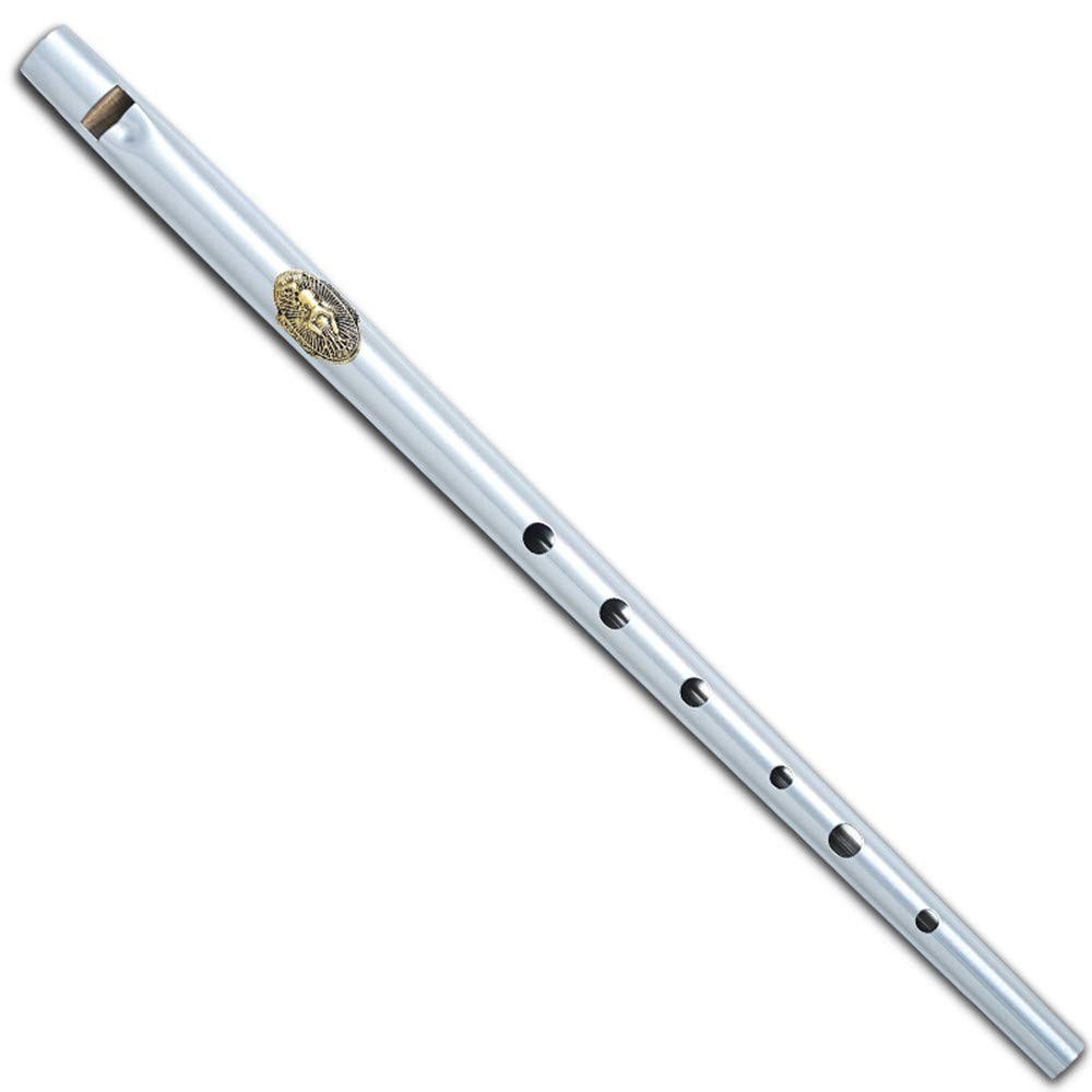 Black/Silver Metal Ireland Flute Clarke Tinwhistle Irish Whistle Flute in C/D Key (Silver Key C)
