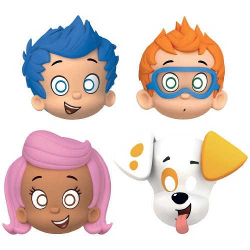 Bubble Guppies Party Hats/ Masks, 8 Count, Party (Molly Bubble Guppies Costumes)