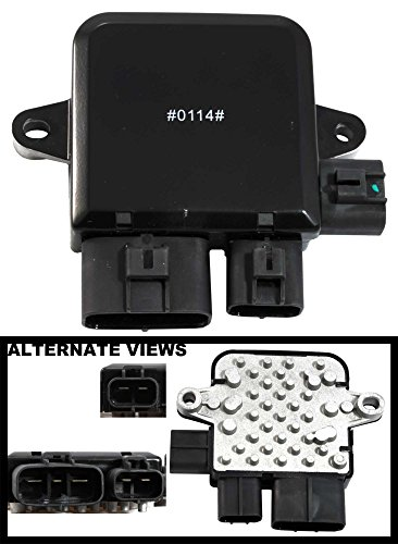 APDTY 1355A124 Radiator Cooling Fan Control Unit Module For 2003-2006 Mitsubishi Outlander / 2002-2007 Mitsubishi Lancer (Non-Turbo Only) / 2003-2007 Mazda 6 / 2002-2005 Mazda MPV (Replaces OE 1C232-19700, AJY215SC0, AJ511515YA)