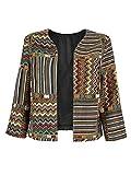 CHOiES record your inspired fashion Choies Women Geo-Tribal Ethnic Print 3/4 Sleeve Cardigan Jacket Retro Printed Coat L