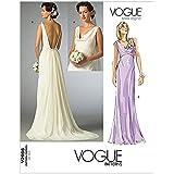 Patron de couture de robes pour femme Vogue Tailles 2965 4–6-8 femme mariée: