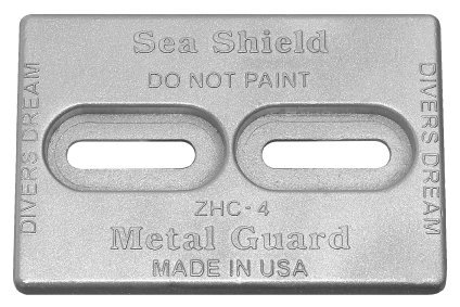 Hull Bolt on Zinc Plate (ZHC-4) 2.70 lbs by Sea Shield Marine