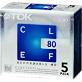 TDK MD CLEF 80分5枚パック MD-CL80X5N