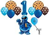 Cookie Monster Balloon Pack for 1st Birthday