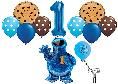 - Cookie Monster Balloon Pack for 1st Birthday
