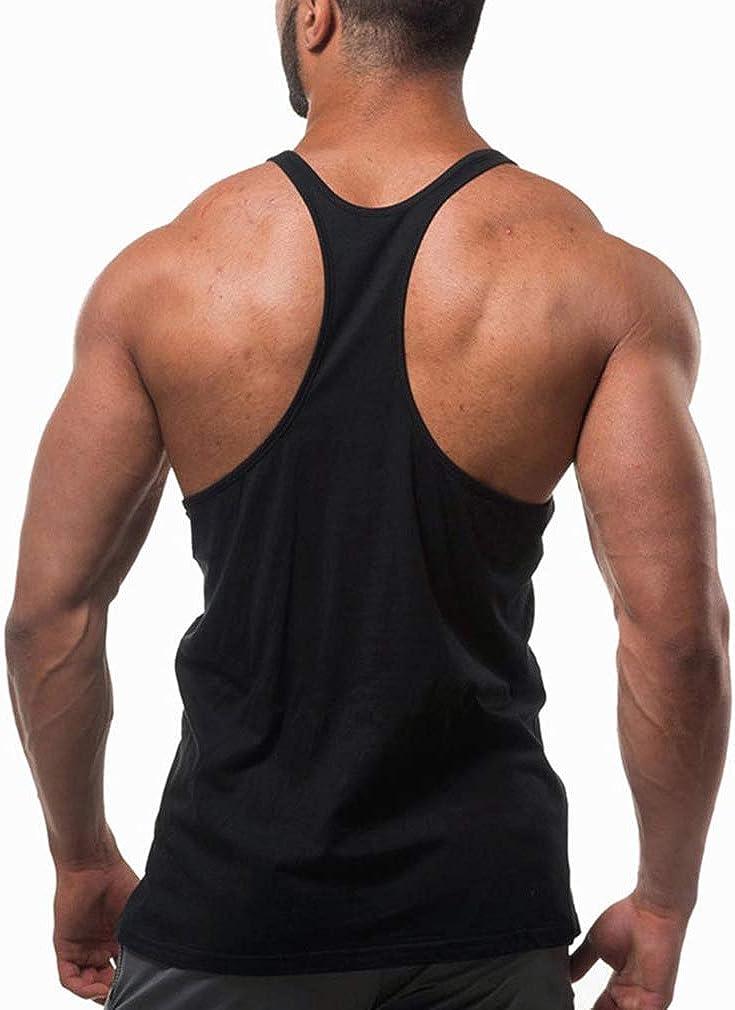 Uomo Tank Tops Canotte Mens Singlets Bodybuilding Vest Stringers Fitness Muscolo Formazione Veste