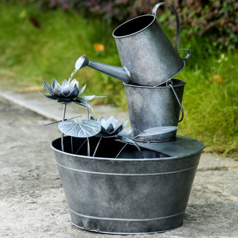 SHOWTIME GALVANIZED BUCKET FOUNTAIN by GALVANIZED BUCKET FOUNTAIN
