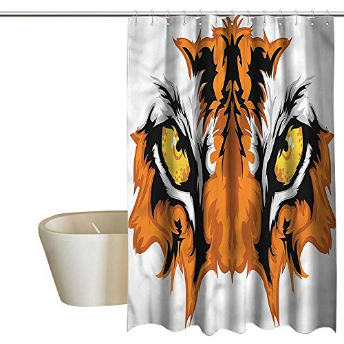 Denruny Shower Curtains for Bathroom Horses Eye,Tiger Bengal Cat African,W55 x L84,Shower Curtain for Shower stall