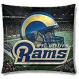 Northwest St. Louis Rams Real Photo Throw Pillow