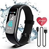 SIKADEER Fitness Tracker HR, Activity Tracker with Heart Rate Monitor, IP68 Waterproof Smart Fitness Watch with Step Counter, Calorie Counter, Pedometer Watch for Women and Men, Kids