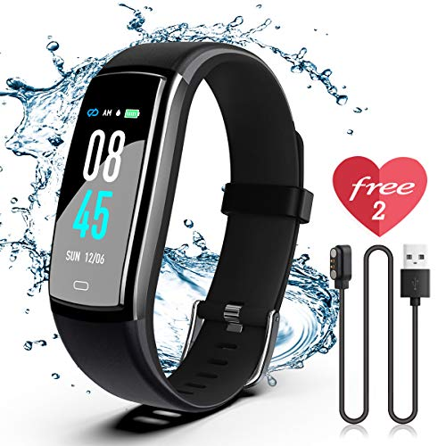 SIKADEER Fitness Tracker HR, Activity Tracker Watch with Heart Rate Monitor, IP68 Waterproof Health Tracker with Step Counter, Calorie Counter, GPS Watch for Kids, Women and Men (Runners Fitness Tracker)