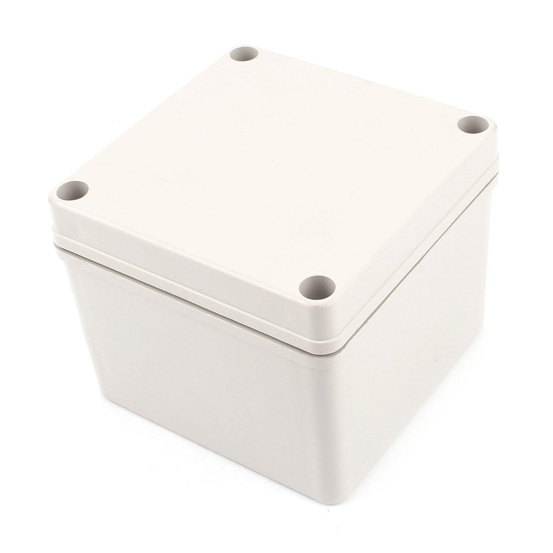125 mm x 125 mm x 100 mm, aus Kunststoff, wasserdicht versiegelter Box-Gehä use Sourcingmap a14081300ux0407