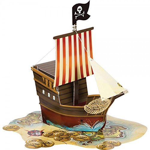 Pirates Map Ship Shape Centerpiece (1 ct) - Pirate Shape