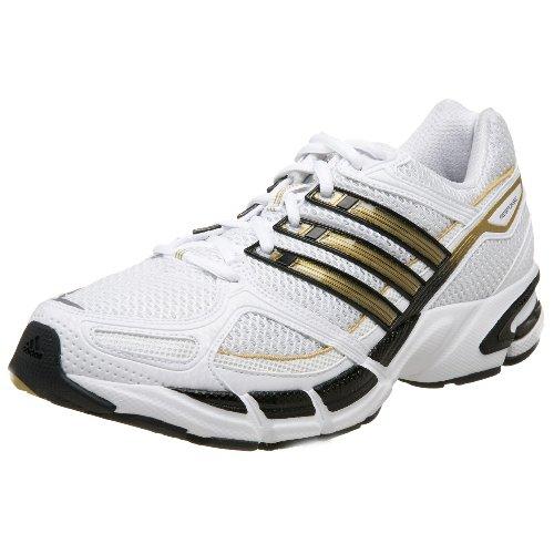 adidas Men's RESPONSE Cushion 18 Running Shoe,White/Black/Gold,12 M