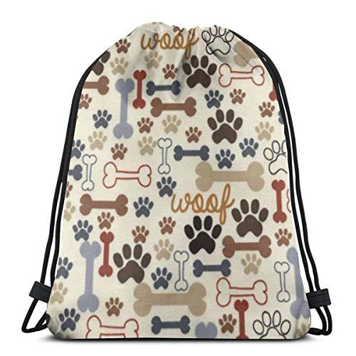 - Mefond Drawstring Backpack Bag,Cinch Sack,Gym Sack,for Girls Or Men Shopping,Sport,Gym,Yoga,School,Blue Dog Footprint Bone