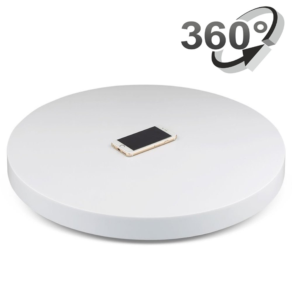 Professional 360 Degree Electric Rotating Turntable for Photography,24'' Diameter, 175 Lb Capacity. Automatic Revolving Platform Perfect for 360 Degree Images (White) by Yuanj