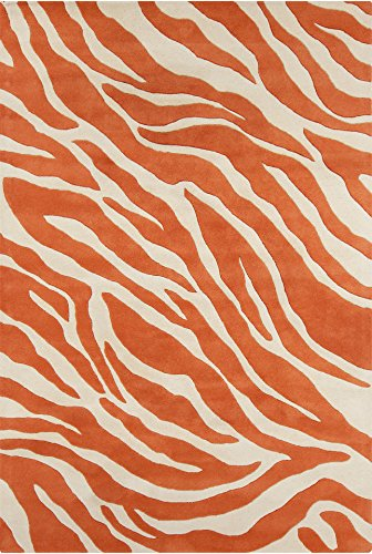 - Chandra Rugs Stella Area Rug, 60-Inch by 90-Inch, Orange/White
