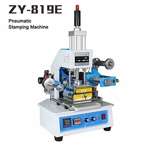 Huanyu InstrumentZY-819E Automatic stamping machine Leather logo creasing machine Pressure words machine Name card stamping machine(adjust height:70mm stamping area:116120mm) by Huanyu Instrument