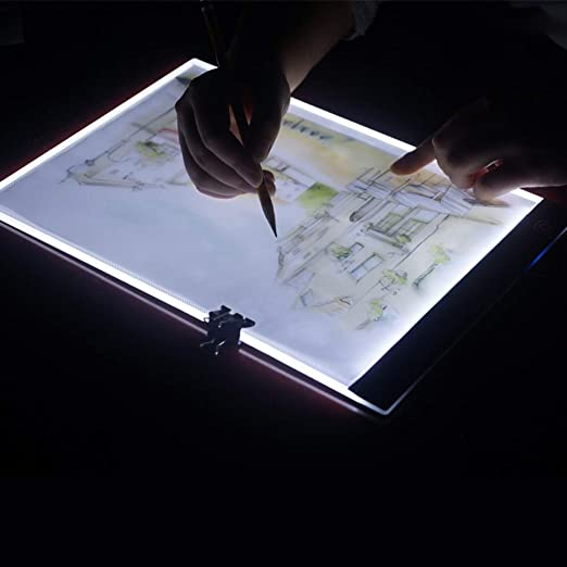 YANHUA LED A4 Digital Tablets Light Box Graphic Tablet Writing Painting Dimmable Brightness Tracing Board Copy Pads Digital Drawing