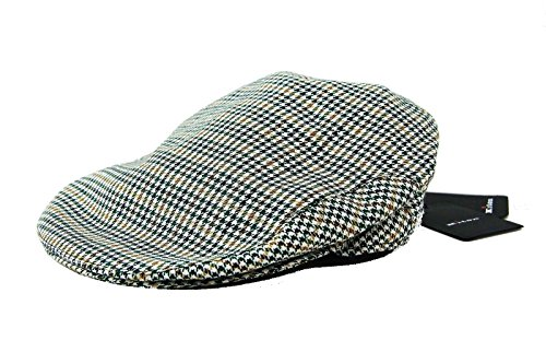kiton-napoli-70-cashmere-30-silk-green-brown-cap-hat-size-58-m-l-725-italy