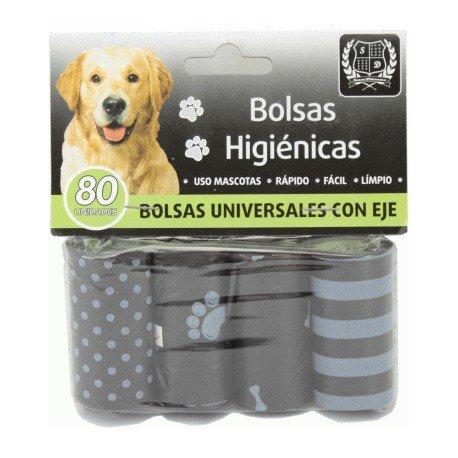Bolsas higiénicas para cacas excrementos perros 4 rollos (80 unidades)