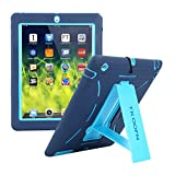 ipad 3 case with stand - Shockproof Bumper Case Cover with Built in Stand for Apple iPad 2 / iPad 3 (The New iPad) / iPad 4 (iPad with Retina Display) + Screen Protector + Stylus + Cleaning Cloth, Blue/Sapphire - PT7702