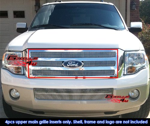 Fits 2007-2014 Ford Expedition Vertical Billet Grille Grill Insert # (Expedition Vertical Grille)
