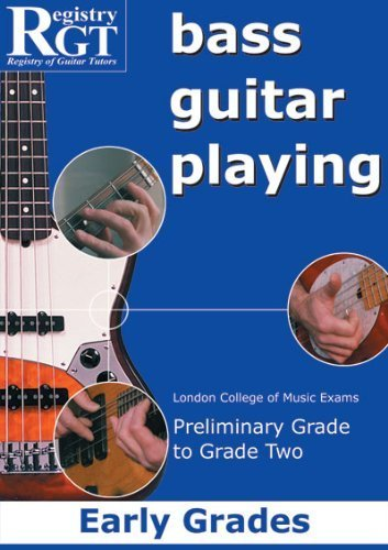 Guitar Playing Exam Book (Bass Guitar Playing: Early Grades - London College of Music Exams Preliminary Grade to Grade 2 by Brown, Alan J., Skinner, Tony (2003) Perfect Paperback)