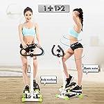 Spin-Bike-Twist-Stair-Stepper-Regolabile-Resistenza-Compatta-Stepper-Attrezzo-con-Manico-E-Monitor-LCD-Macchina-di-Esercizio-al-Coperto