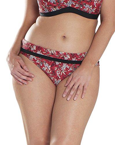 Curvy Kate Women's Maya Fold Over Brief, red, - Brief Bikini Fold Over