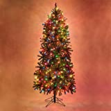 Slender Douglas Fir Prelit Christmas Tree Artificial Christmas Tree (400 Multicolor Lights, 6.5')