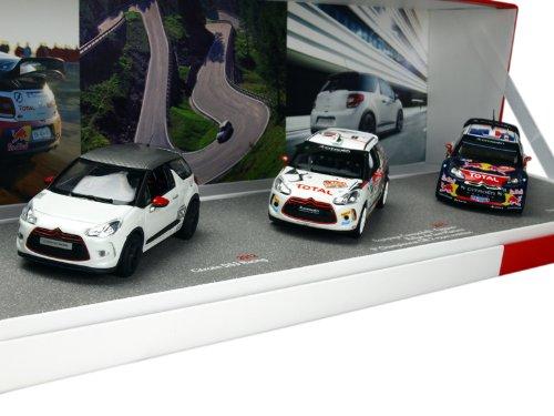 1/43 シエトロン3台セット シエトロンDS3 WRC 2012年モンテ・カルロラリー優勝 #1 ドライバー:Loeb/Elena・シエトロンDS3レーシング 2012・シエトロンDS3 R3 2012 155354