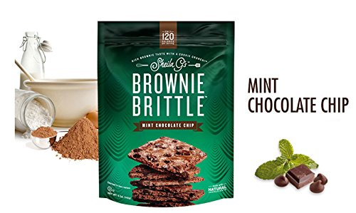 Sheila Gs Brownie Brittle Mint Chocolate Chip Brownie Brittle, 5 Ounce -- 12 per case. by Brownie Brittle