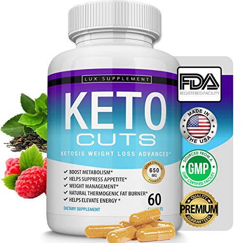 Keto Cuts Pills Ketosis Weight Loss Advanced - Best Ultra Fat Burner Using Ketone and Ketogenic Diet, Boost Metabolism and Energy While Burning Fat, Men Women, 60 Capsules Lux Supplement (Best Fda Approved Weight Loss Supplement)