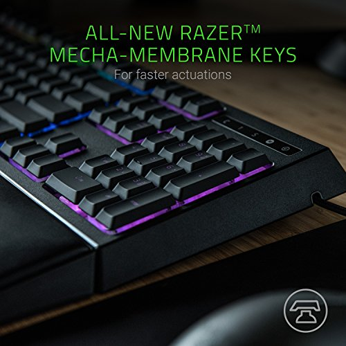 Razer Ornata Chroma – Revolutionary Mecha-Membrane RGB Gaming Keyboard with Individually Backlit Mid-Height Keys – Wrist Rest – Ergonomic Design