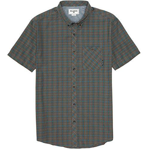 (Billabong Men's Steady Short Sleeve Woven Shirt, Asphalt, Large)