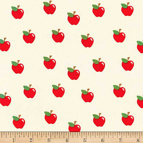 Robert Kaufman What Do The Animals Say Apples Fabric, Ivory, Fabric By The - Apples With Fabric