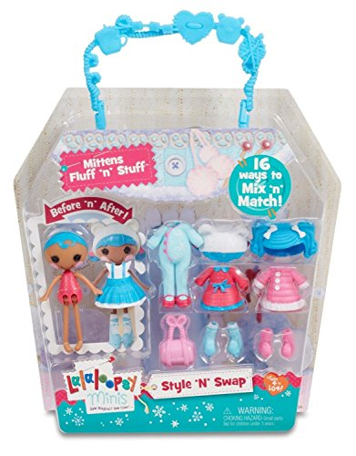 Lalaloopsy Minis Style 'N' Swap Doll- Mittens Fluff 'N'